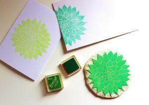 Stempel DIY, Stempel selber machen, kreativ mit Stempeln, Sukkulenten-Stempel