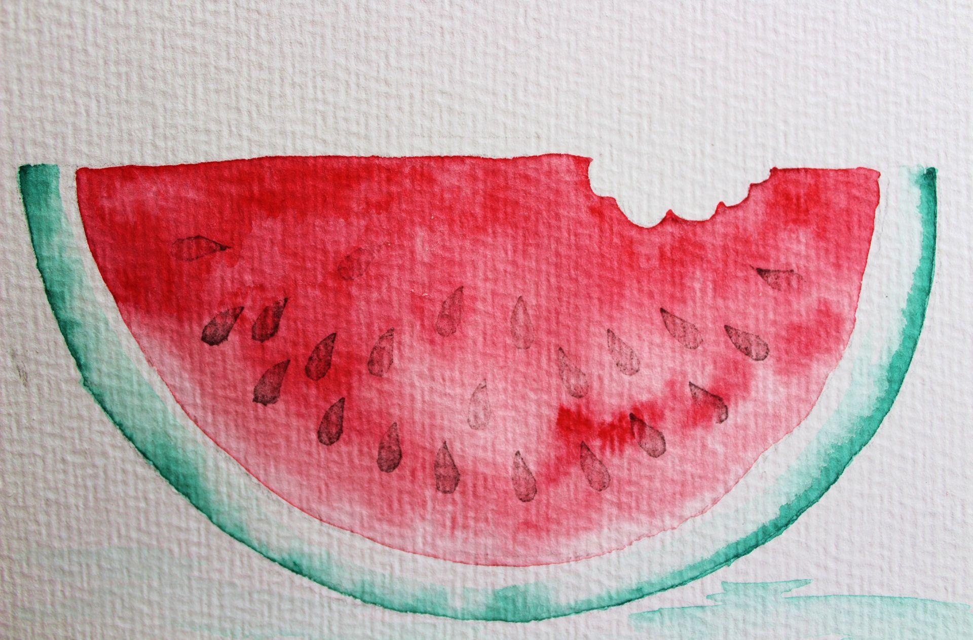 Aquarell Wassermelone