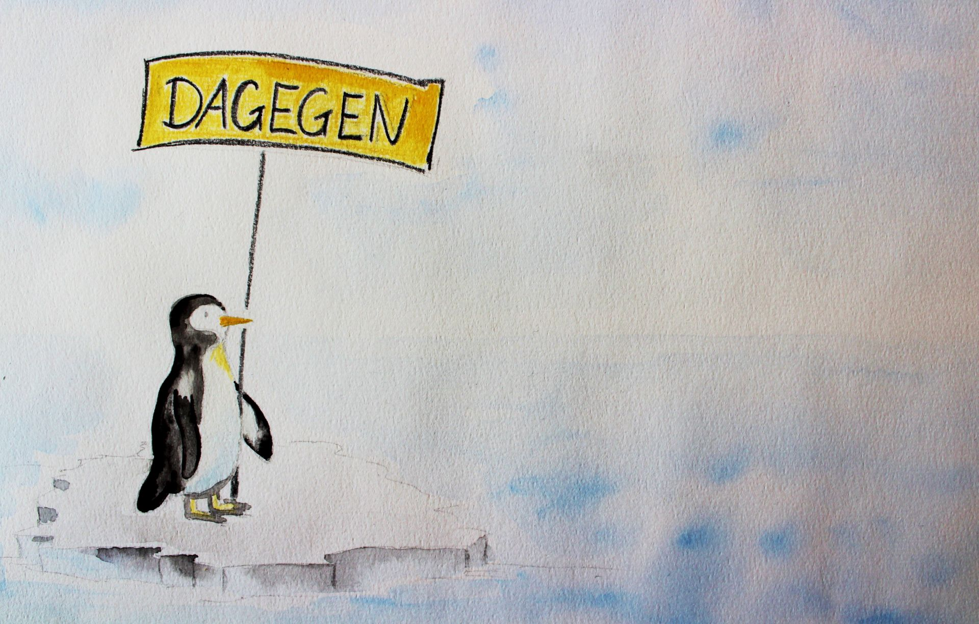 Aquarell Pinguin